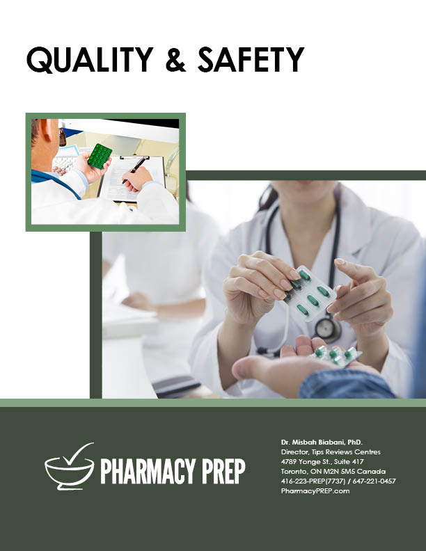 QUALIY AND SAFETY - Misbah Biabani, Ph.D.
