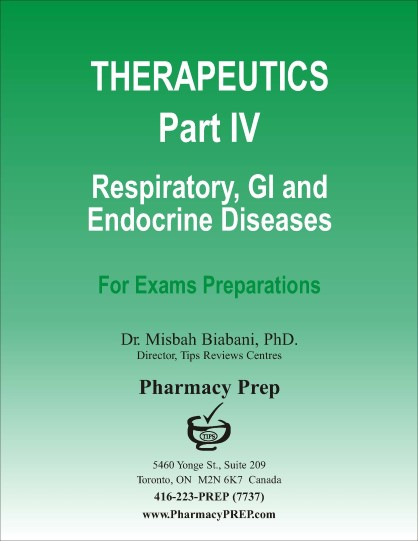Therapeutics Part IV- GI Diseases, Respiratory Diseases, Musculoskeletal drugs, Cancer chemotherapy and OTC drugs - Misbah Biabani, Ph.D.